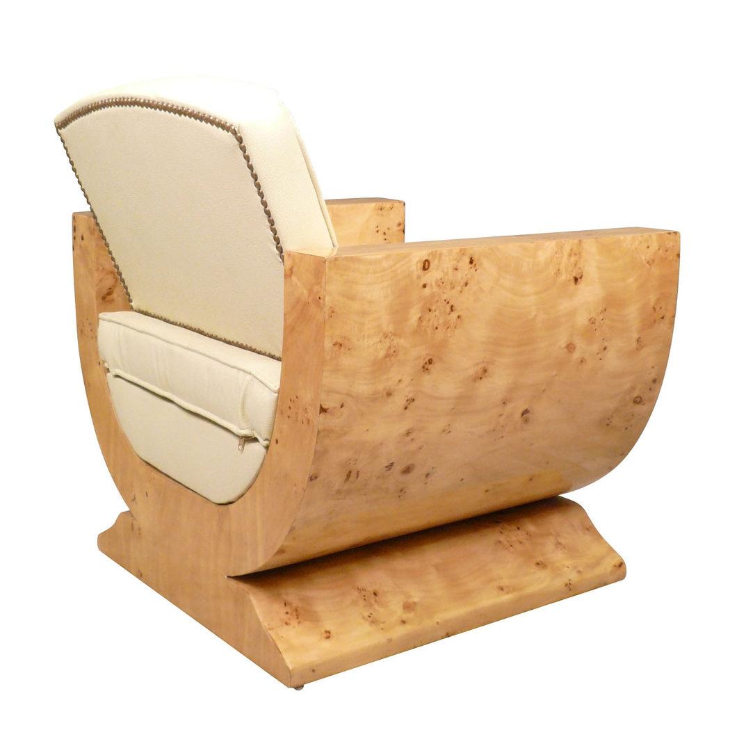 Fauteuil art d co en loupe d 39 orme meubles art d co style for Statut de jardin pas cher