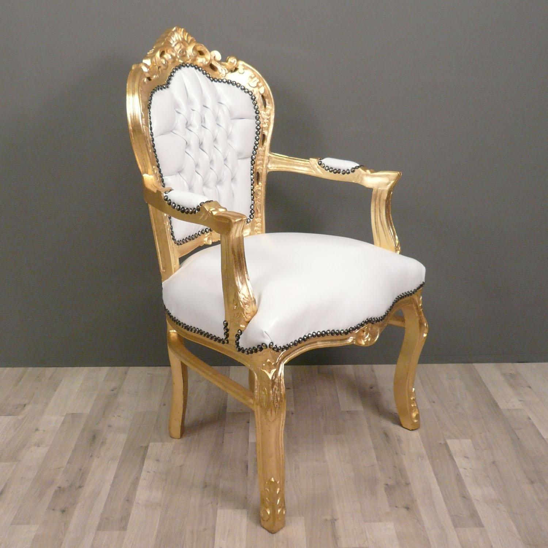 fauteuil baroque blanc et dor fauteuils baroques. Black Bedroom Furniture Sets. Home Design Ideas