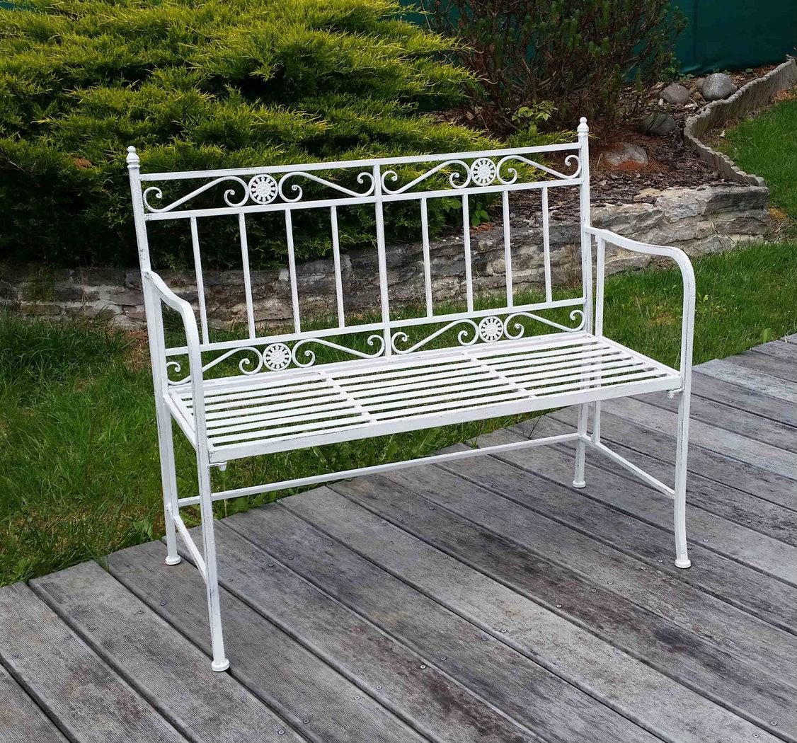 Panca da giardino in ferro battuto tavoli sedie panchine - Banc de jardin en fer ...