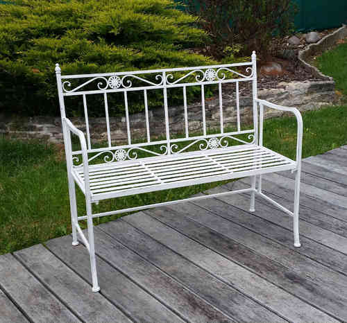 Fer forg salons de jardin tables chaises - Banc de jardin en fer forge ...