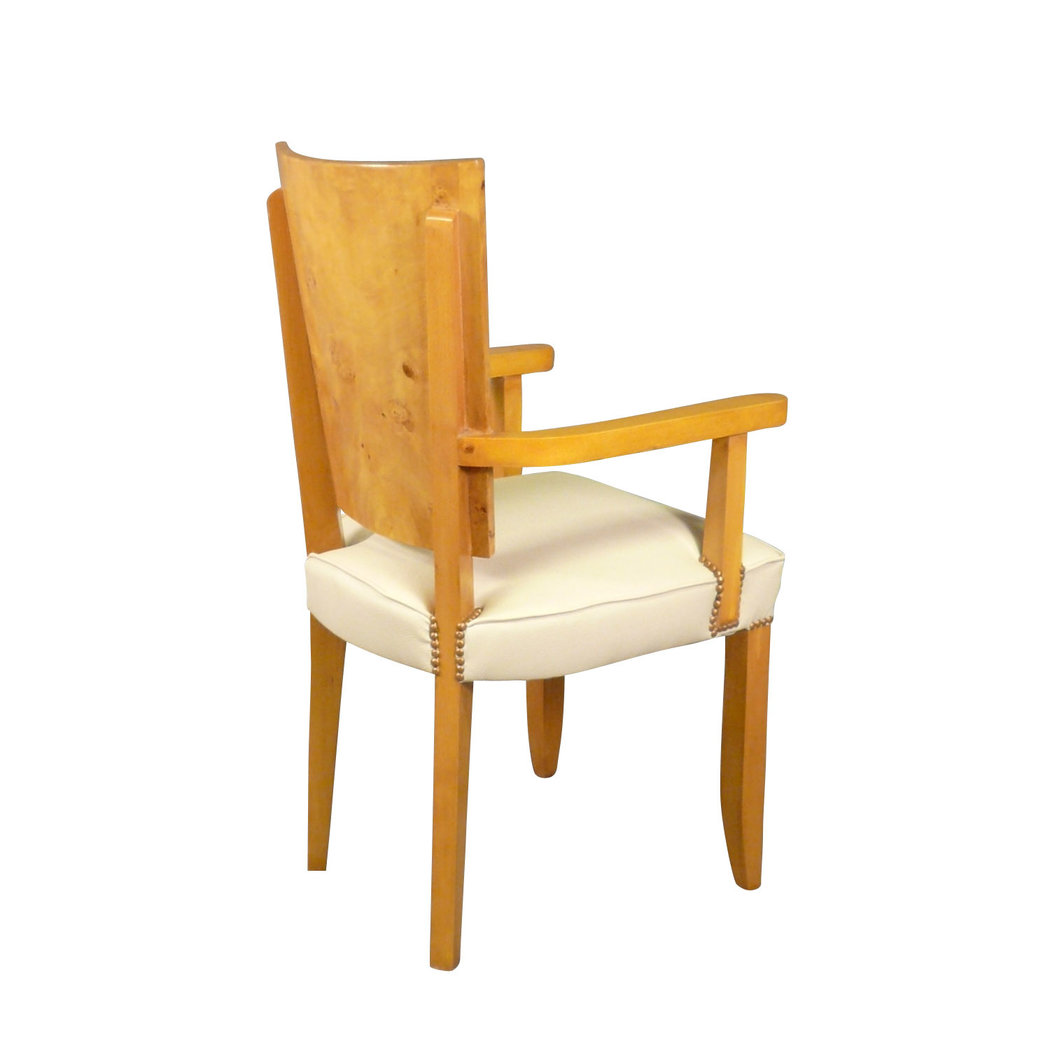 fauteuil art d co en loupe d 39 orme pour table ou bureau art d co. Black Bedroom Furniture Sets. Home Design Ideas