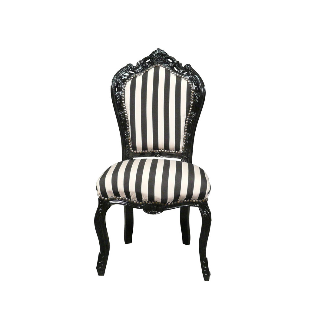 chaise baroque noire et blanche meuble baroque. Black Bedroom Furniture Sets. Home Design Ideas