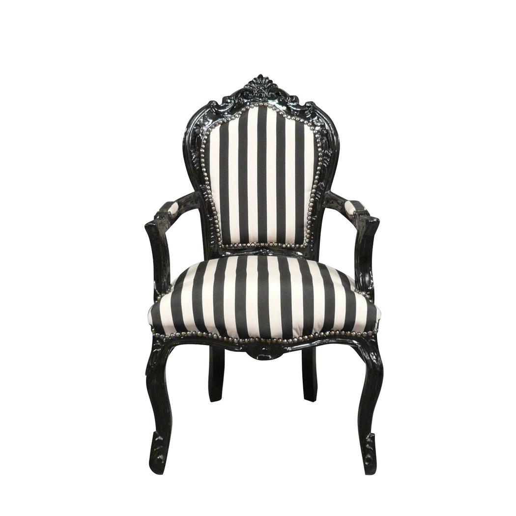 fauteuil baroque noir et blanc mobilier art d co. Black Bedroom Furniture Sets. Home Design Ideas
