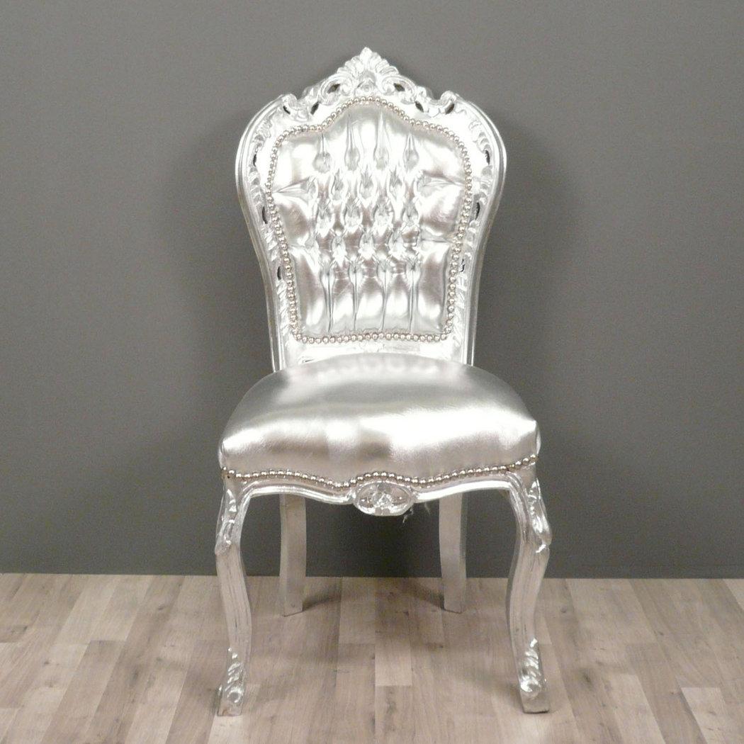 Chaise baroque argent e fauteuils baroques for Petit banc baroque