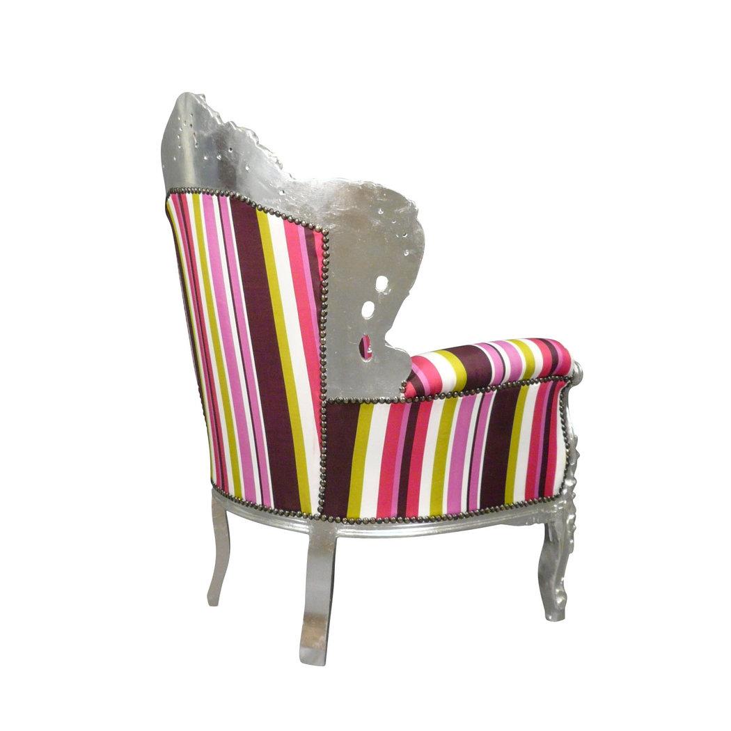 fauteuil baroque multicolore chaises et meubles art d co. Black Bedroom Furniture Sets. Home Design Ideas