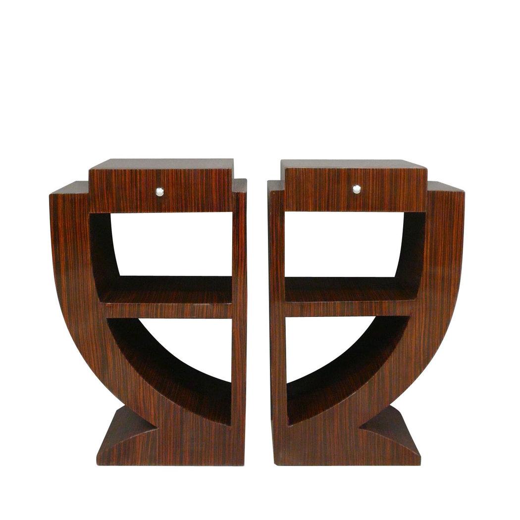 Paire de chevets art d co en palissandre meuble art d co for Art deco online shop