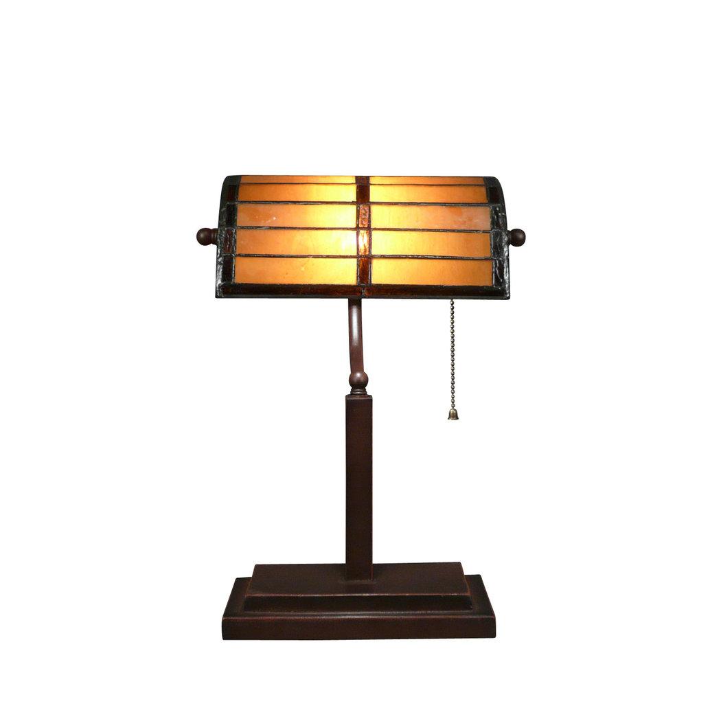 Lampe tiffany de bureau ou de banque sculpture art d co for Lampe de bureau sur pied