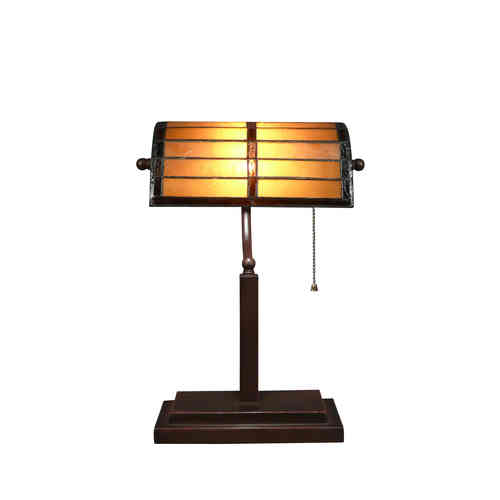 Tiffany desk lamp or bank