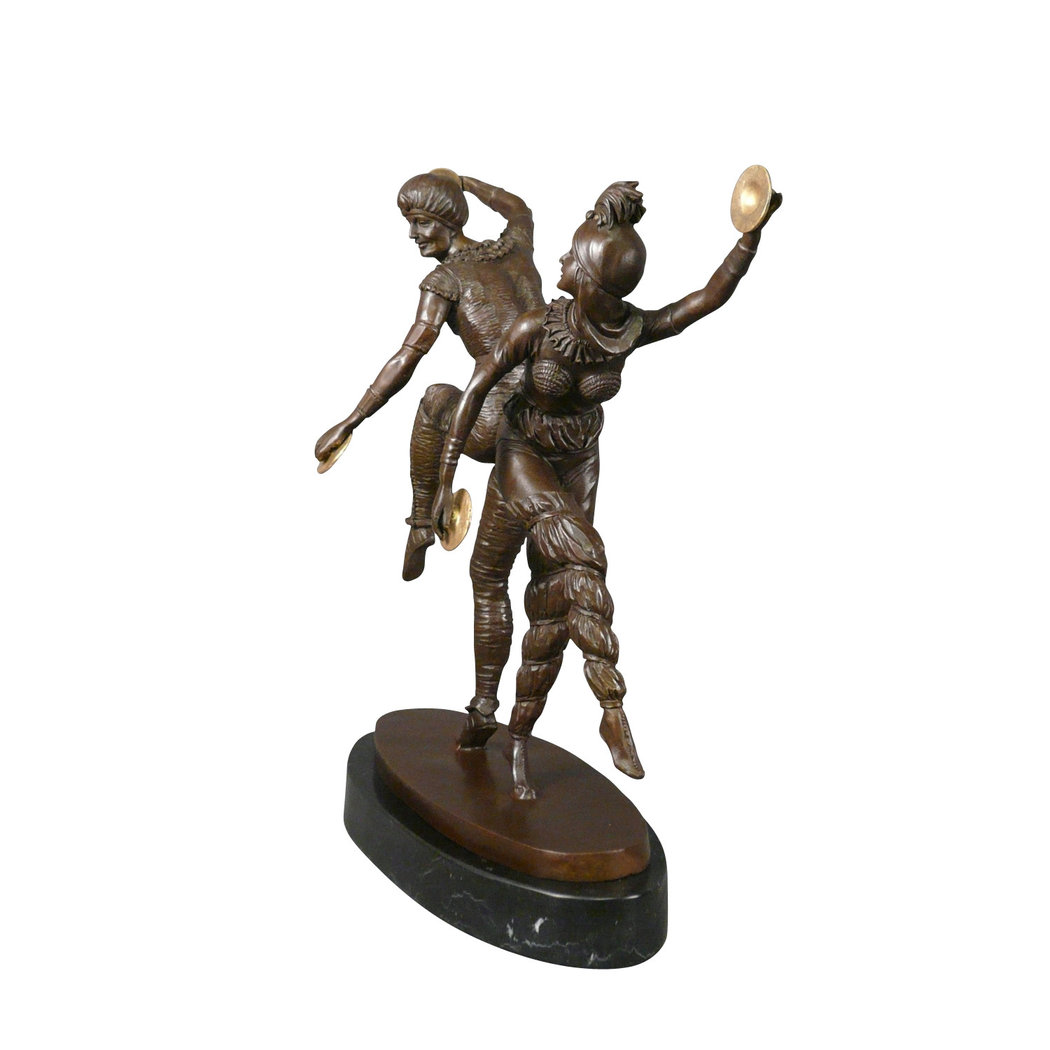 sculpture en bronze le couple de danseurs russe statue. Black Bedroom Furniture Sets. Home Design Ideas