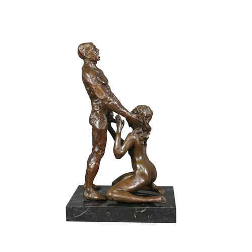 Sculpture bronze érotique