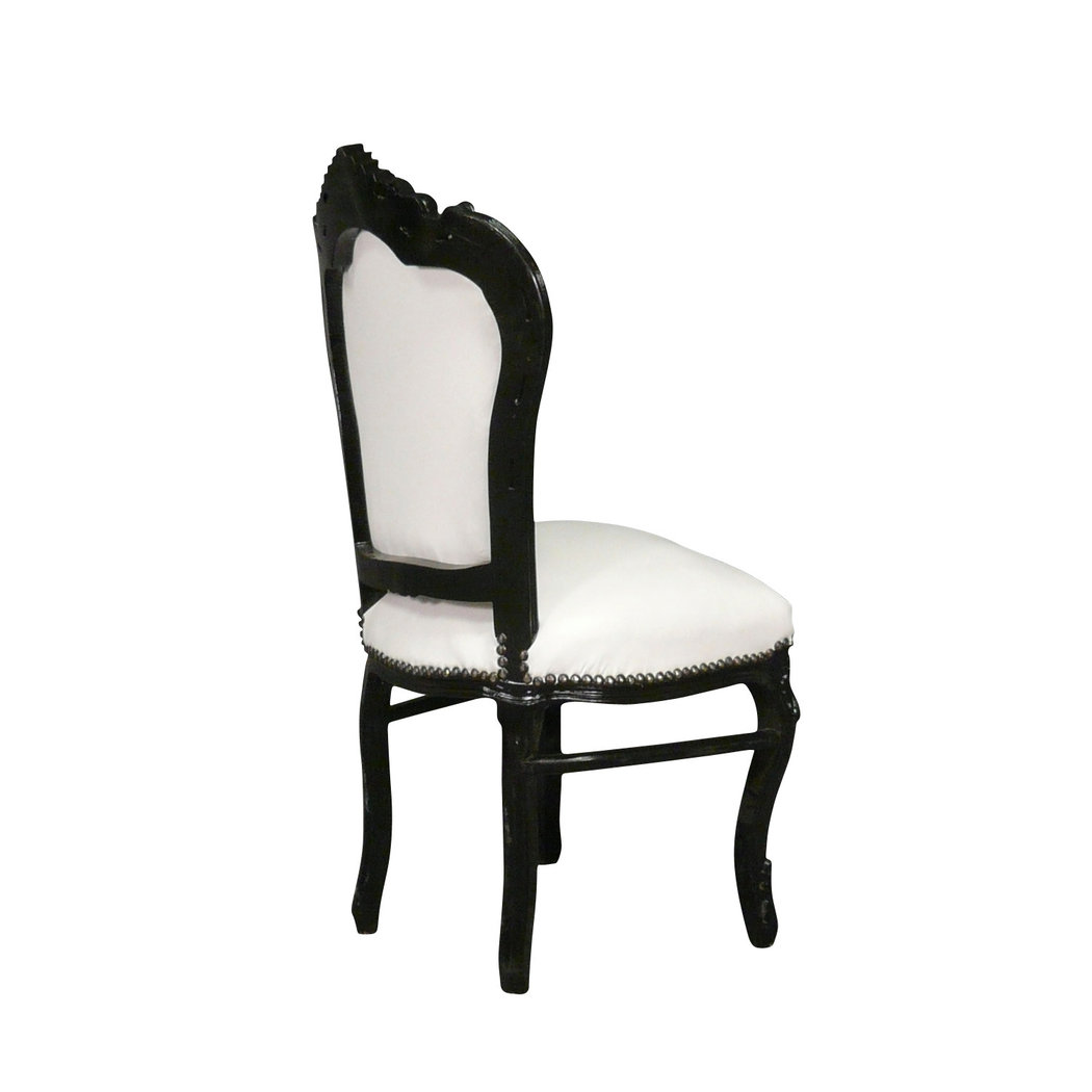 chaise baroque noire et blanche vesoul meuble baroque. Black Bedroom Furniture Sets. Home Design Ideas