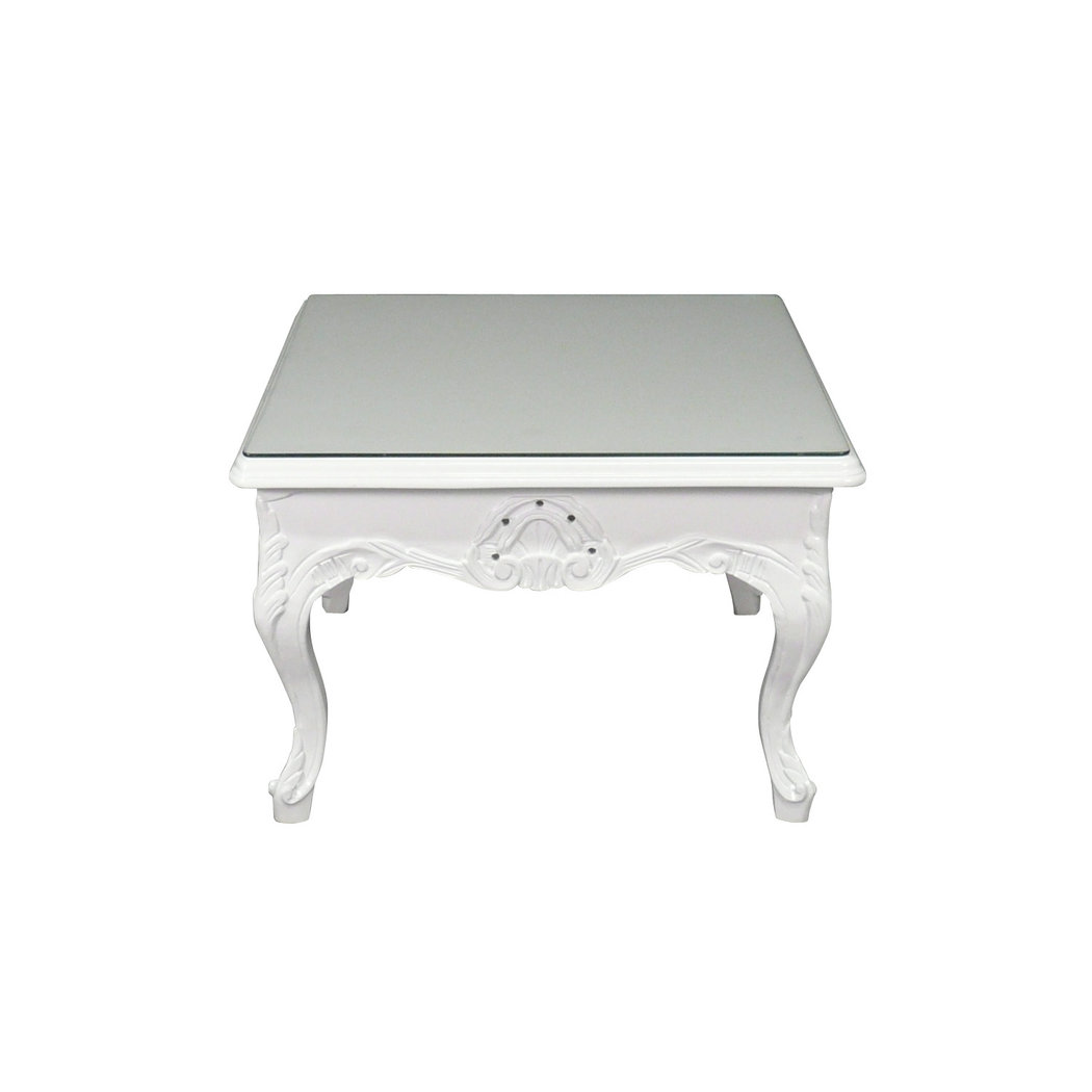 Table basse baroque blanche meuble baroque - Grande table basse blanche ...
