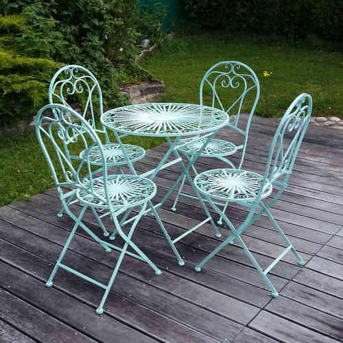Fer forg salon de jardin en fer forg chaise table - Chaises de jardin en fer ...