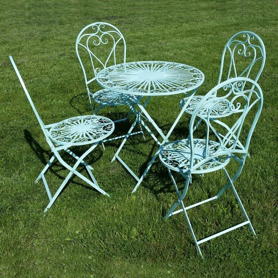 Muebles de jard n de hierro forjado mesa silla banco for Mesas de hierro forjado para jardin
