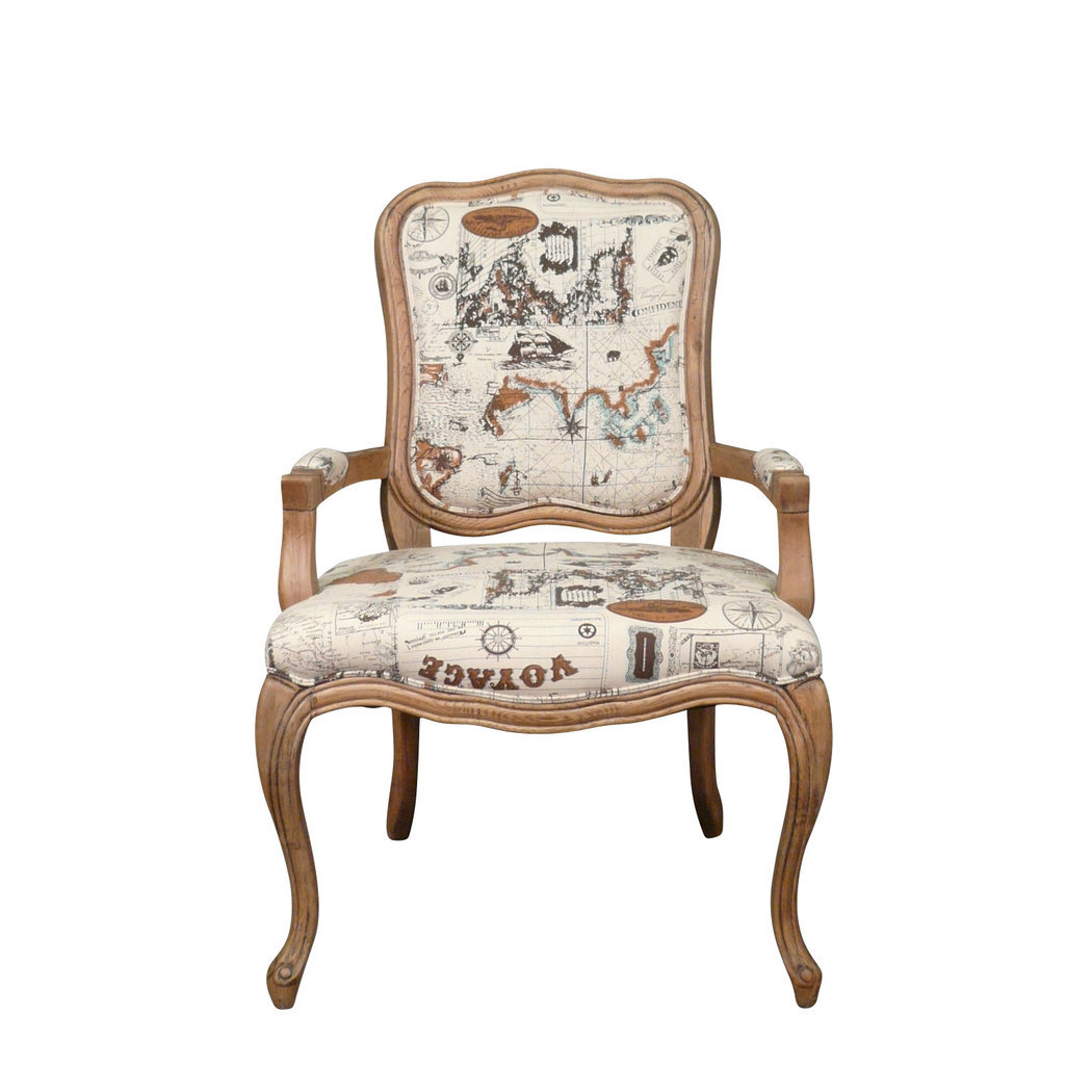fauteuil louis xv en ch ne meuble shabby. Black Bedroom Furniture Sets. Home Design Ideas