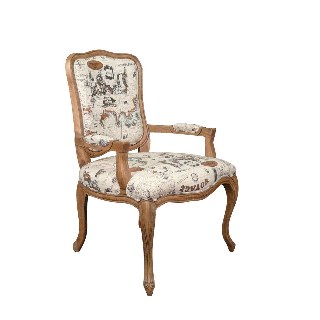 fauteuil louis xv en ch ne meuble shabby. Black Bedroom Furniture Sets. Home Design Ideas