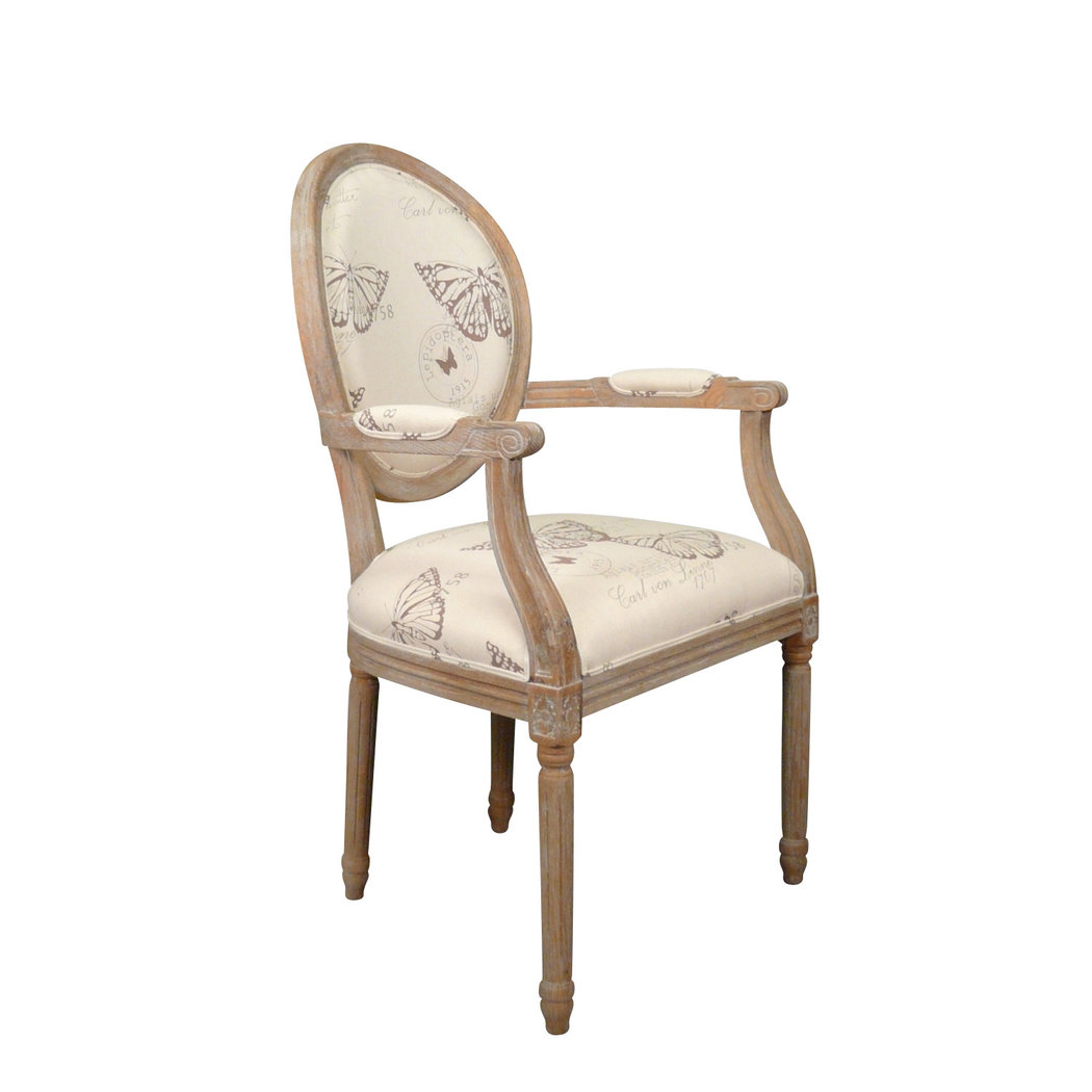 fauteuil louis xvi en ch ne meuble shabby. Black Bedroom Furniture Sets. Home Design Ideas