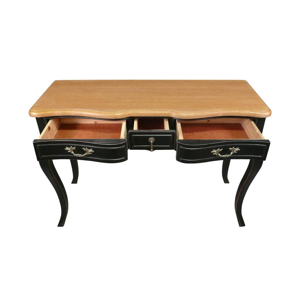 bureau noir proven al de style louis xv meuble shabby. Black Bedroom Furniture Sets. Home Design Ideas