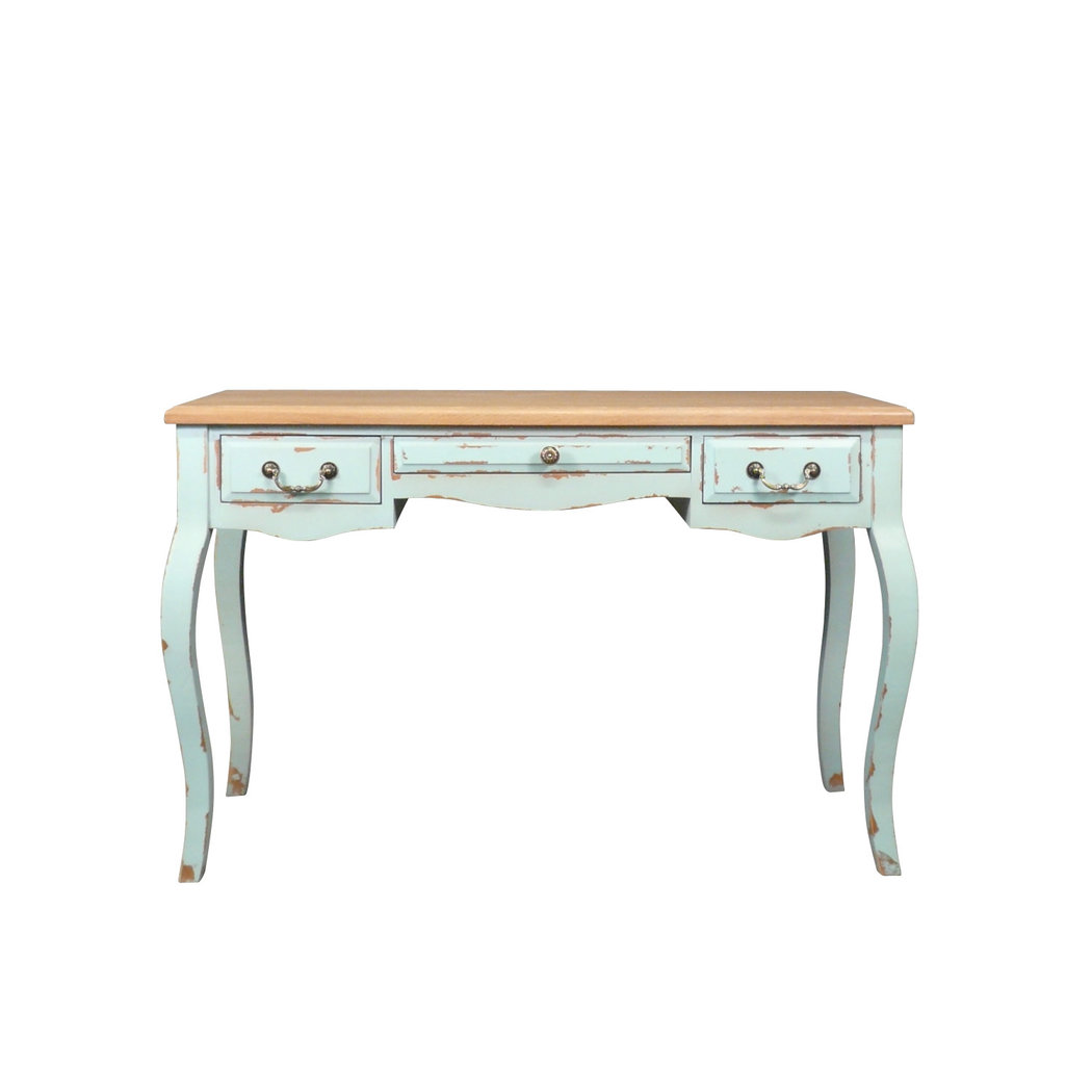 Bureau en bois style louis xv meuble shabby for Petit bureau en bois