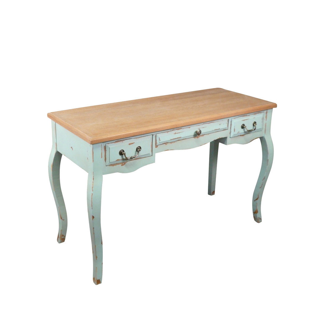 Bureau en bois style louis xv meuble shabby for Meuble bureau louis xv