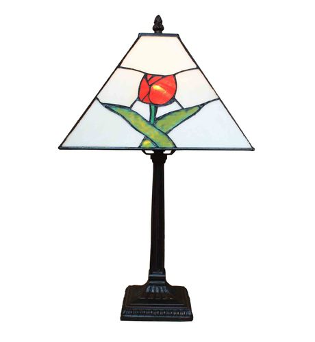 Tiffany lamp red rose