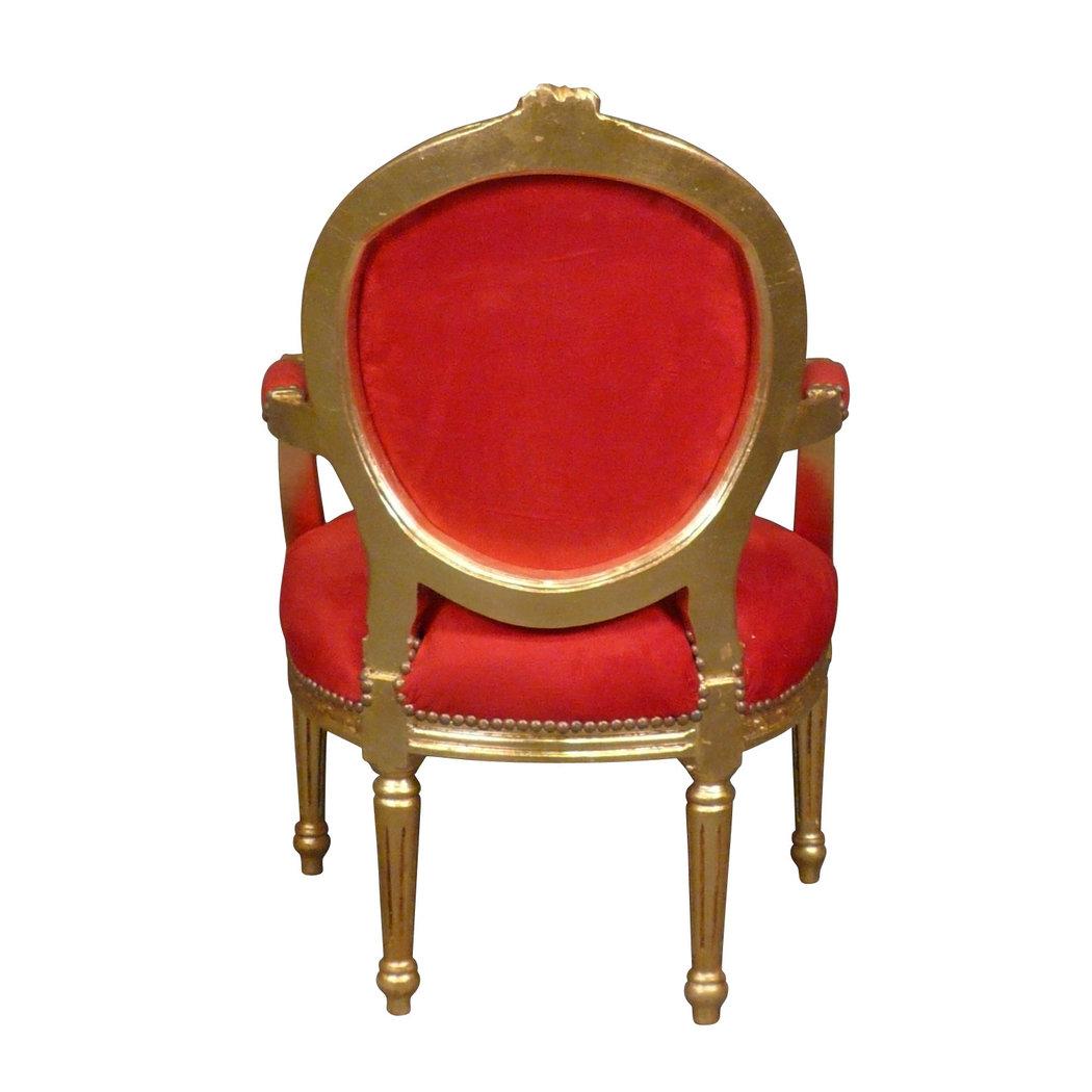 Fauteuil louis xvi rouge pas cher meuble louis xv - Fauteuil rouge pas cher ...