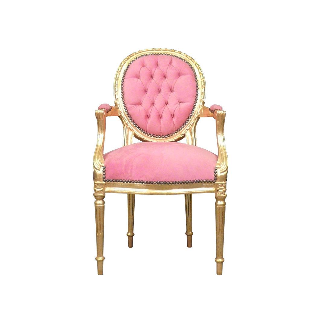 fauteuil louis xvi rose chaise baroque meuble louis xv. Black Bedroom Furniture Sets. Home Design Ideas