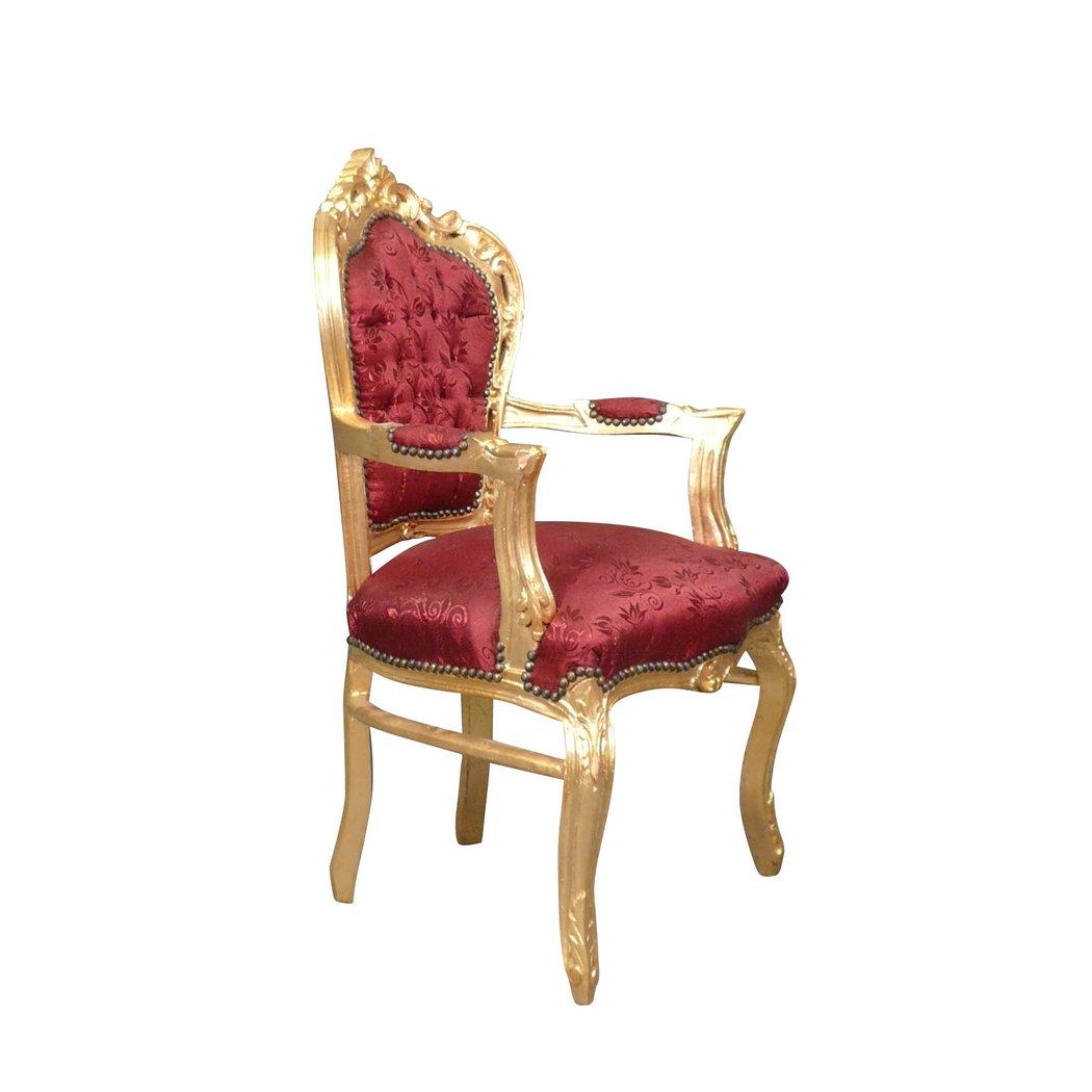 Fauteuil baroque rouge et or chaise baroque canap baroque - Fauteuil 2 places baroque ...
