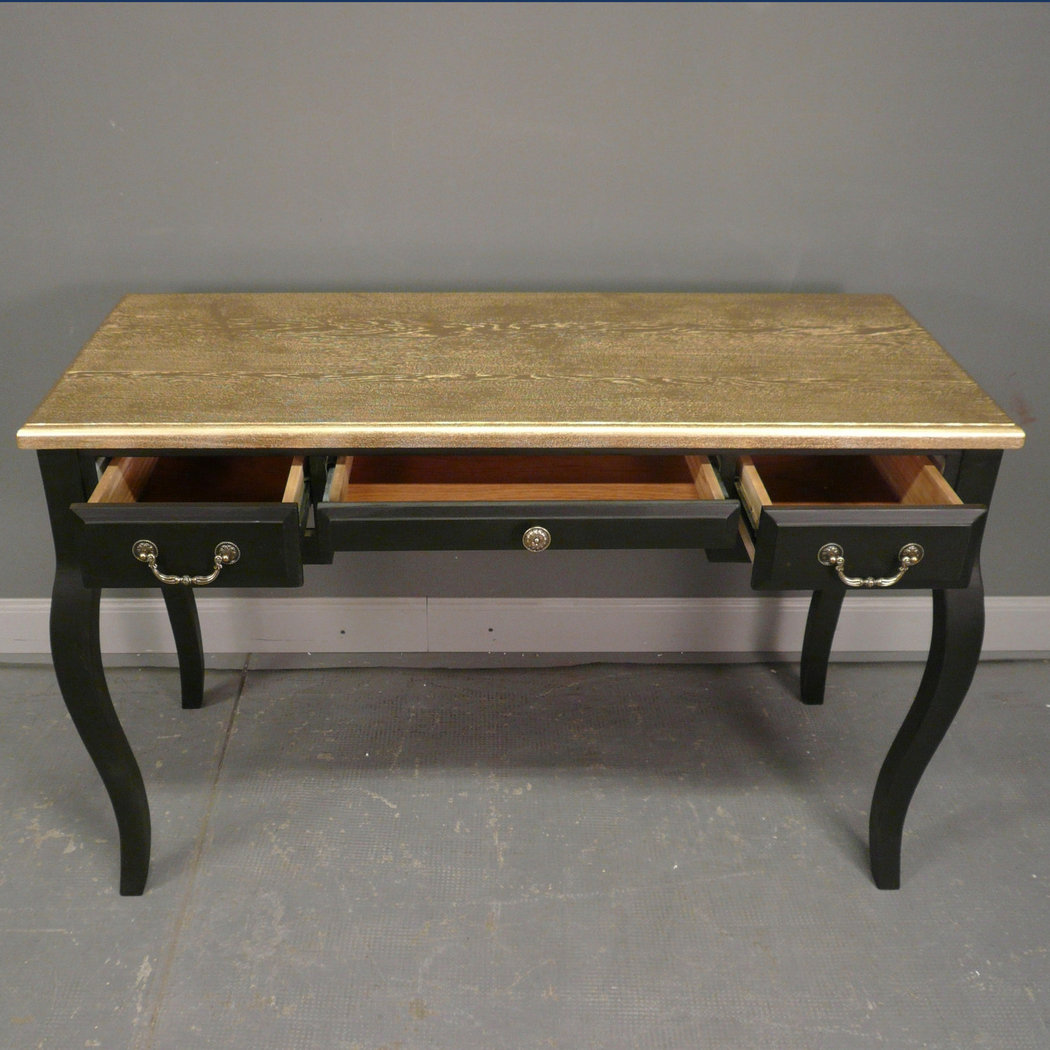 bureau baroque noir et or meuble baroque. Black Bedroom Furniture Sets. Home Design Ideas