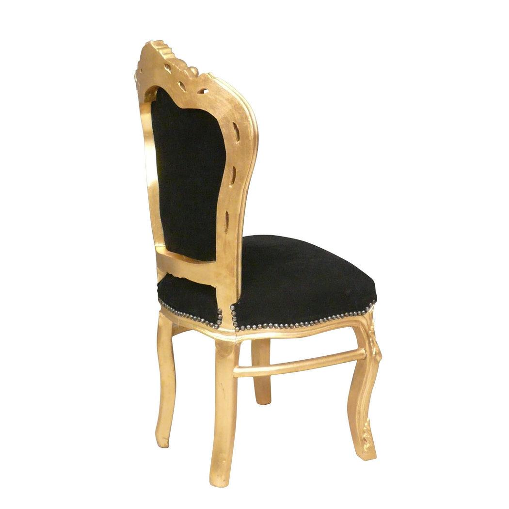 Chaise baroque noire et or fauteuils louis xv for Chaise auto pour bb