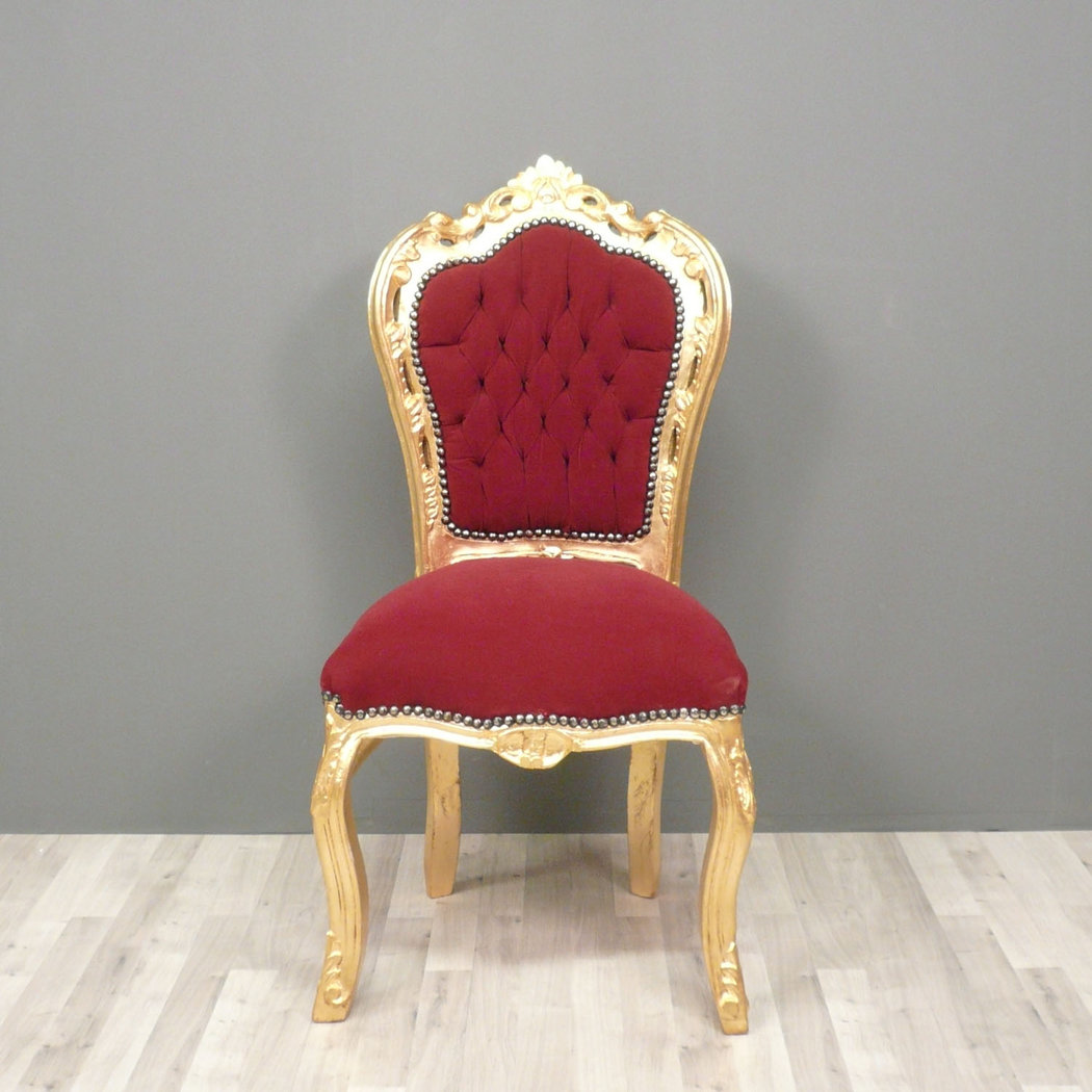 Chaise baroque rouge for Chaise rouge