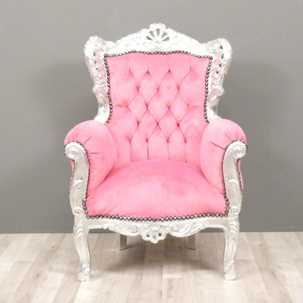 fauteuil baroque enfant rose chaise baroque. Black Bedroom Furniture Sets. Home Design Ideas