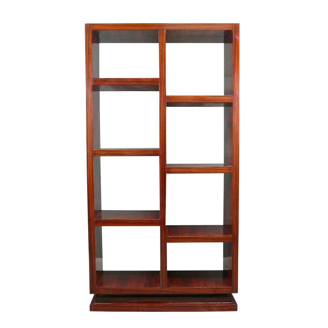 Tag re art d co en palissandre casier mobilier art d co - Deco etagere woonkamer ...