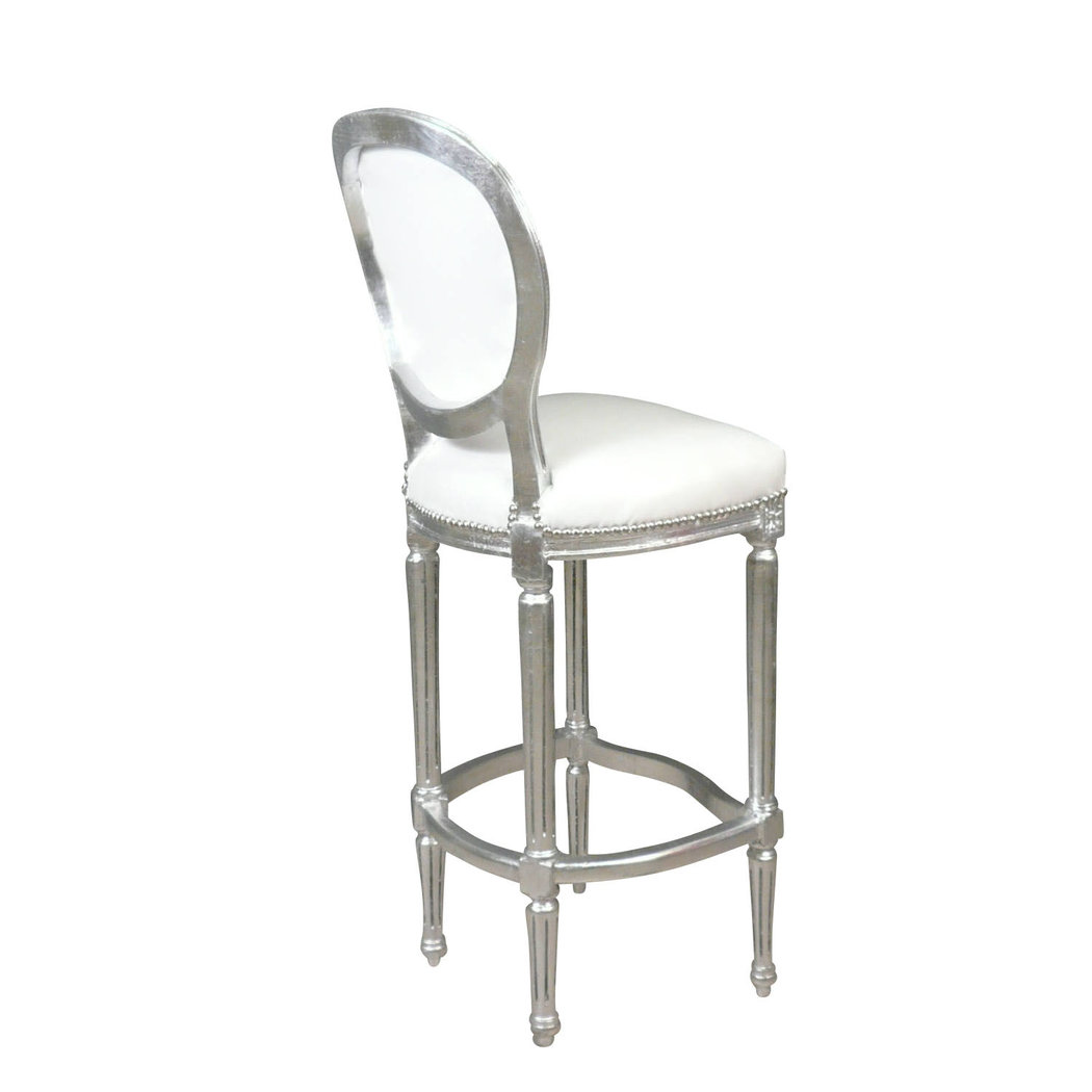 Chaise baroque de bar blanche meuble baroque - Chaise de bar blanche ...