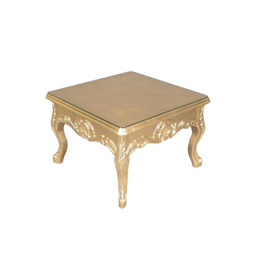 Table basse baroque dor e meuble baroque - Table d appoint dore ...
