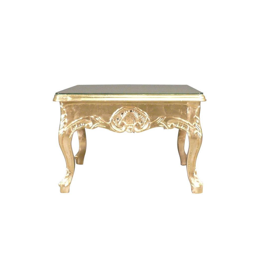 Table basse baroque dor e meuble baroque for Table basse ronde baroque
