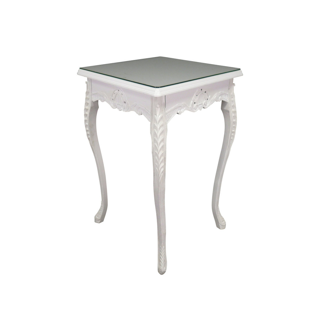 Table baroque de bar blanche meuble baroque for Table bar blanche