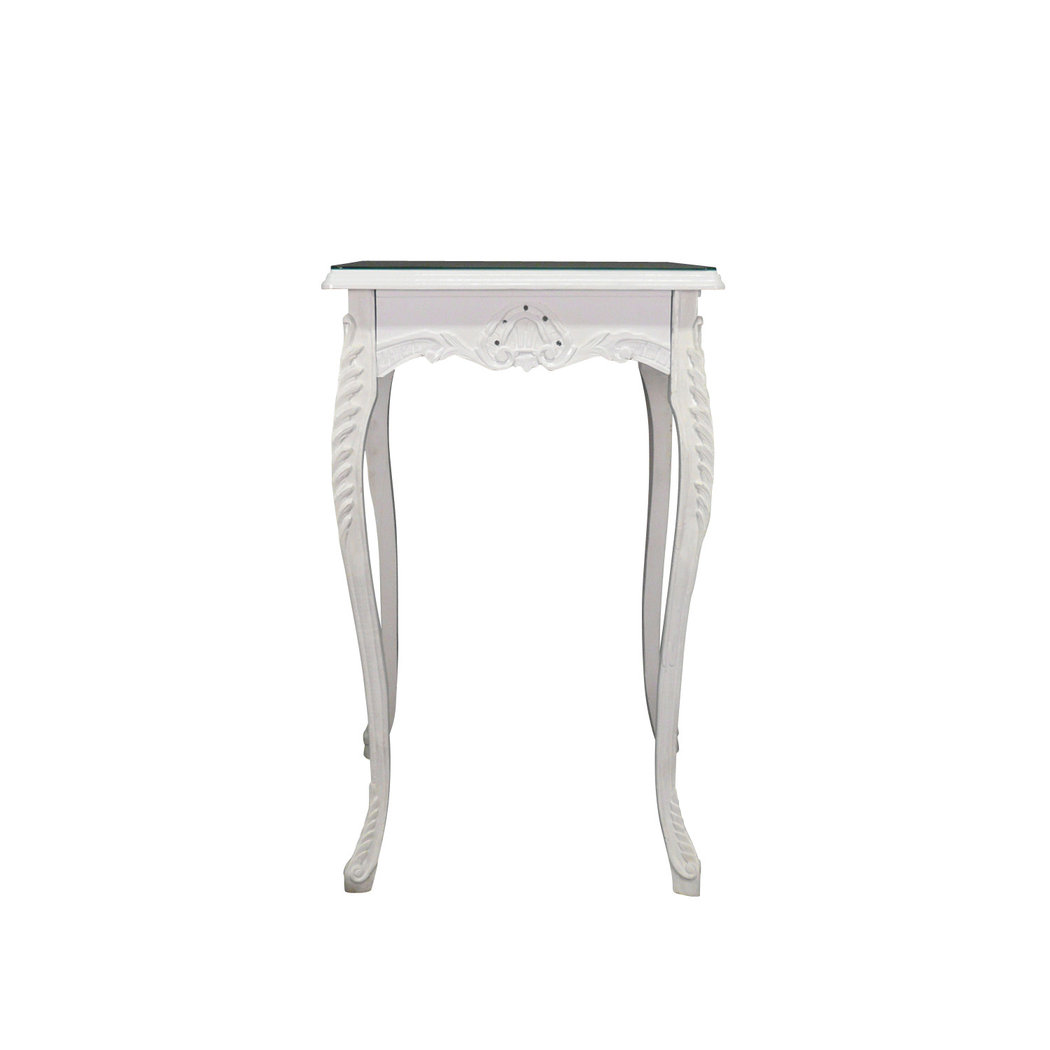 Table baroque de bar blanche meuble baroque for Table bar haute blanche