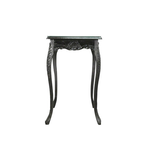Table baroque de bar noire