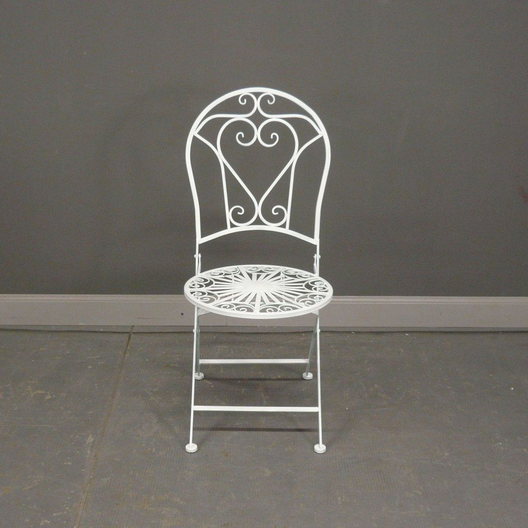 Salon de jardin en fer forg blanc table chaise banc - Chaise de jardin fer forge ...