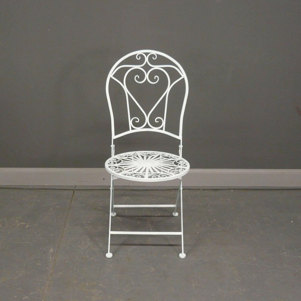 Salon De Jardin En Fer Forg Blanc Avec Deux Chaises