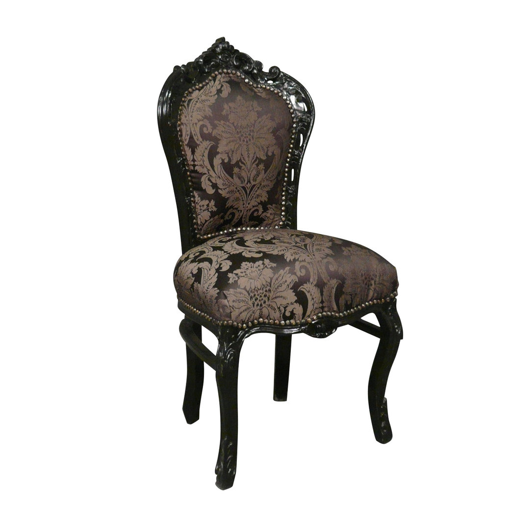 chaise baroque noire style rococo. Black Bedroom Furniture Sets. Home Design Ideas