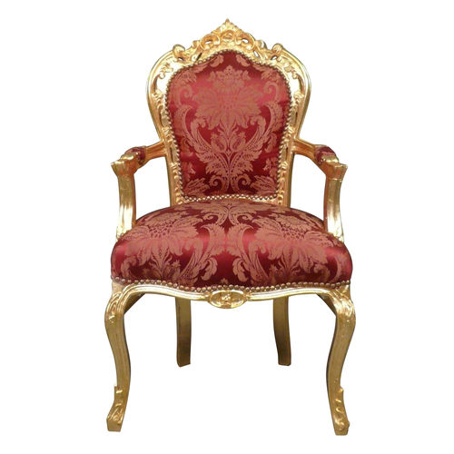 Fauteuil baroque rouge