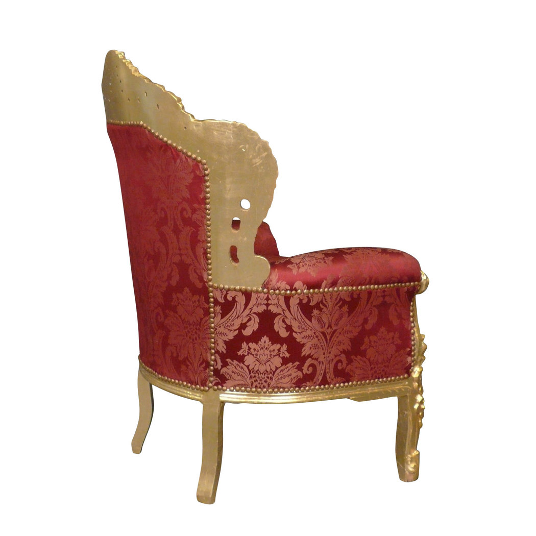 fauteuil baroque rouge rococo meuble baroque. Black Bedroom Furniture Sets. Home Design Ideas