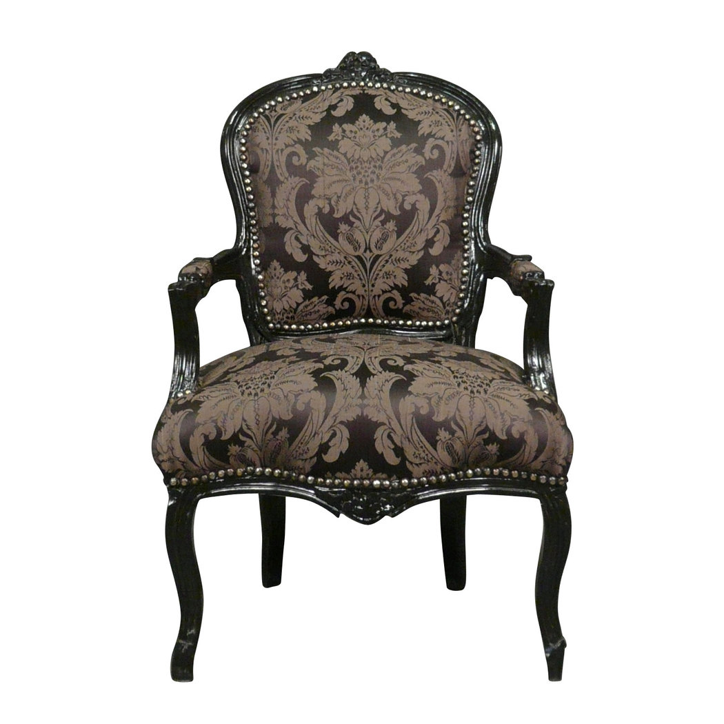fauteuil louis xv noir rococo meuble baroque. Black Bedroom Furniture Sets. Home Design Ideas