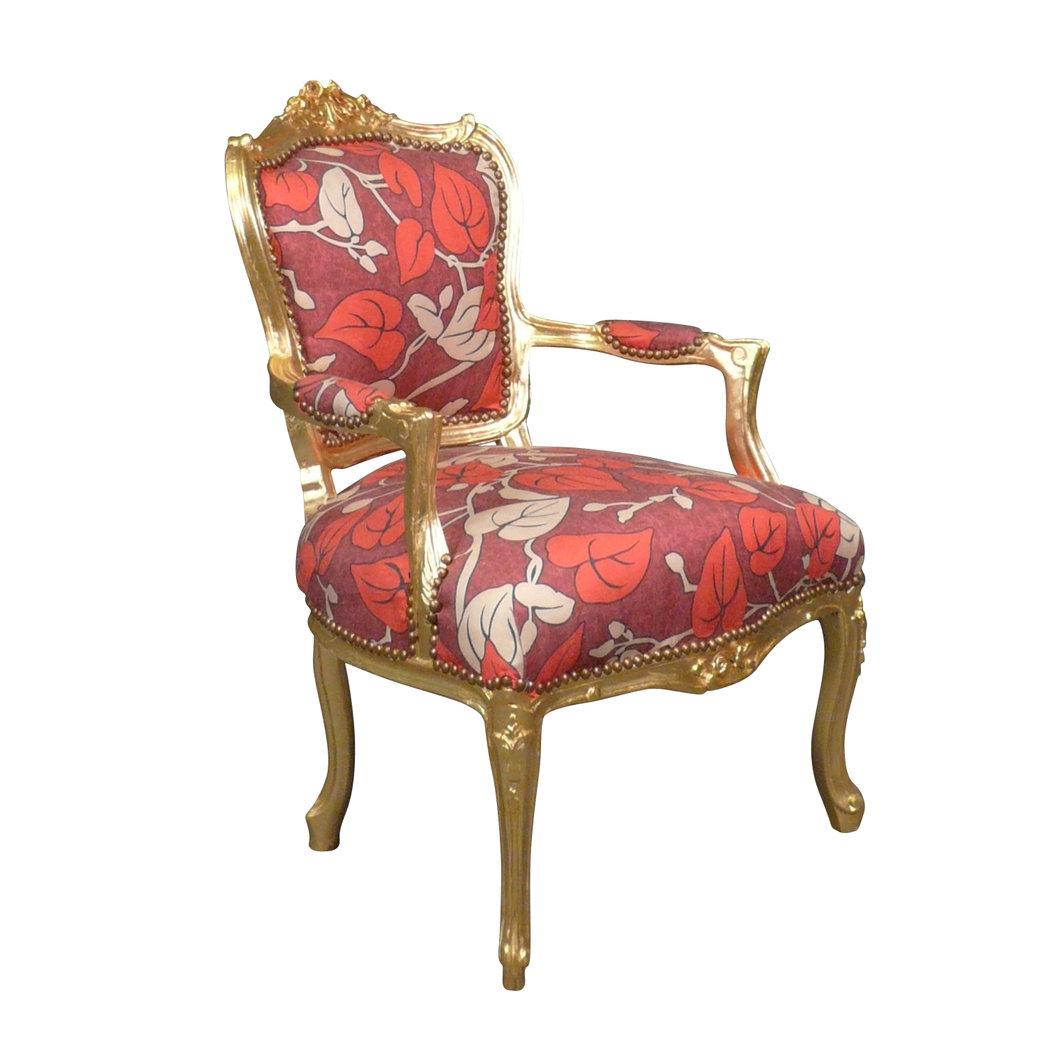 fauteuil louis xv fleuri meuble baroque. Black Bedroom Furniture Sets. Home Design Ideas