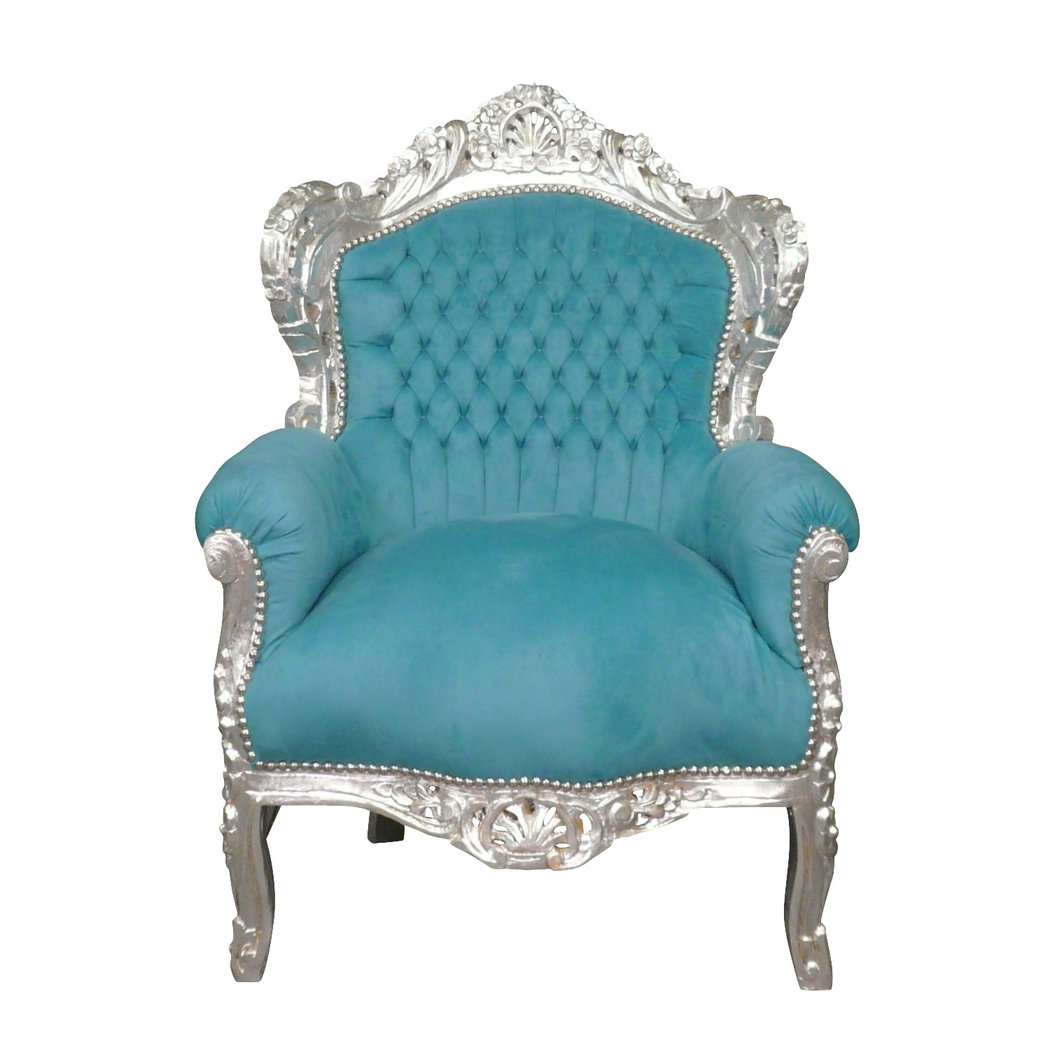fauteuil baroque bleu turquoise meuble baroque. Black Bedroom Furniture Sets. Home Design Ideas