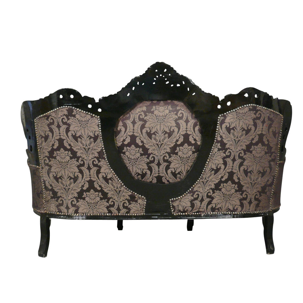 canap baroque noir style rococo. Black Bedroom Furniture Sets. Home Design Ideas