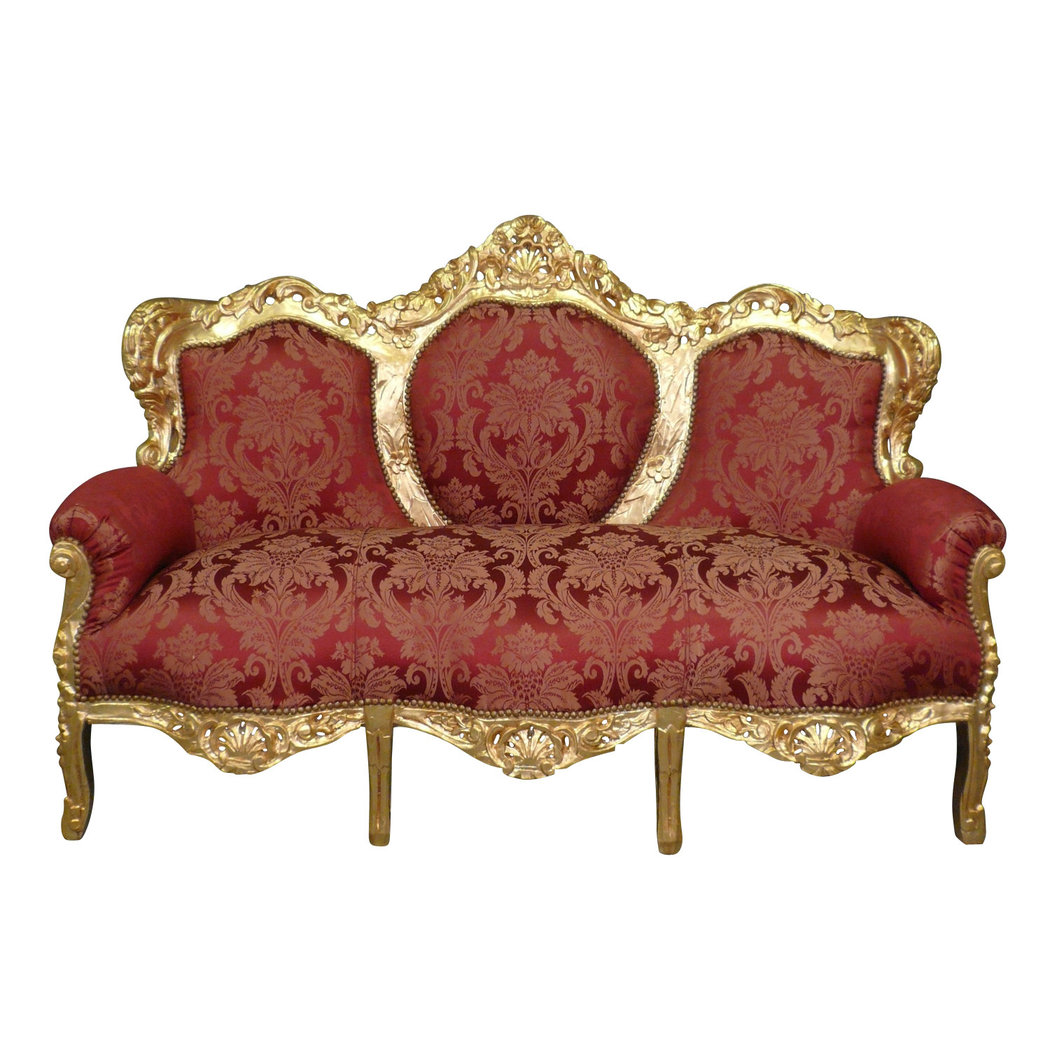 Baroque sofa red and gold - baroque furniture