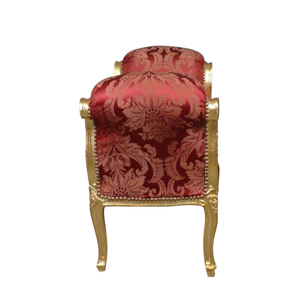 panca barocco rosso mobili barocco. Black Bedroom Furniture Sets. Home Design Ideas